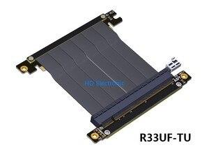 Image 3 - PCIE 3.0 ケーブル Pc e 16X x16 にアダプタケーブルグラフィックスビデオカード延長 90 度アングルデザイン ITX マザーボードシャーシ