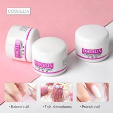 Coscelia acrílico pó prego gel poli para a arte do prego claro acrílico prego conjunto kit glitter pó unhas acrílicas para toda a manicure