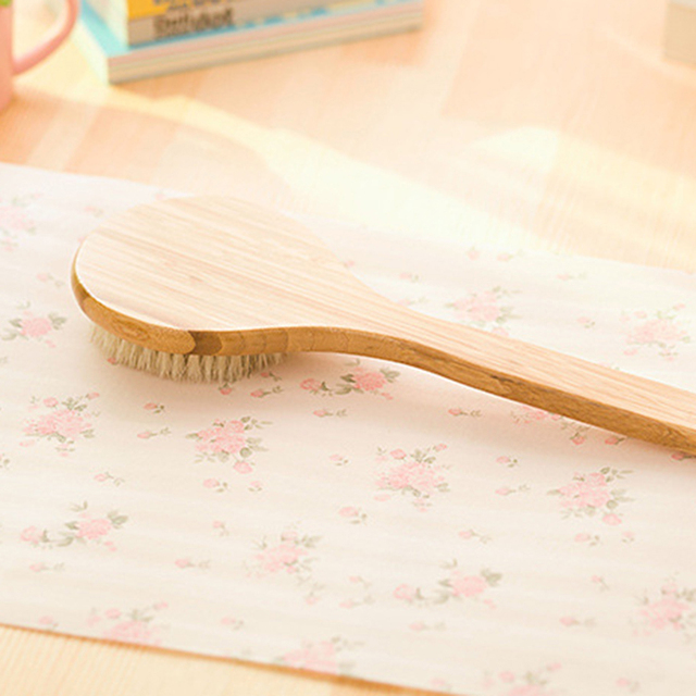 Bristle Brush SPA Exfoliating Bath Brushes Back Massage Scrubber With Long Bamboo Handle Brush Bathroom Cleaning Tools 4