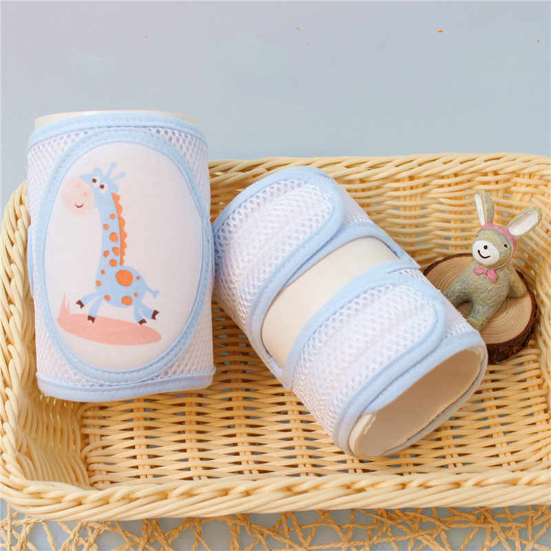New Baby Accessories Can Adjust Non-slip Baby Kneepad LegWarmers Knee Walk Crawling Pads Children's Cotton Thick Breathable Mesh