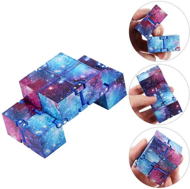 Infinity Cube Mini Toy Finger EDC Anxiety Stress Relief Cube Blocks Children Kids Funny Toys Best Gift Toys for Children 2