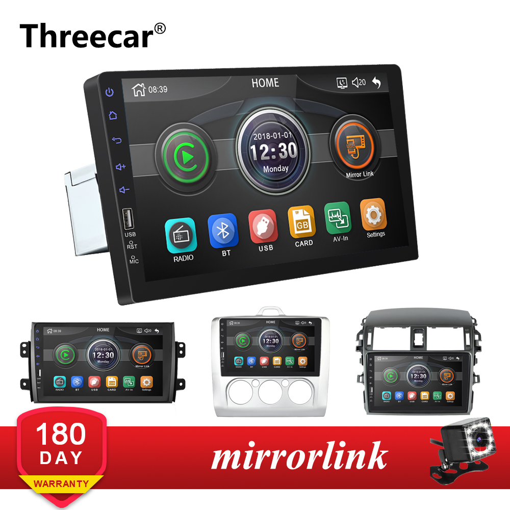 Mirrorlink Android Bluetooth Car <font><b>Multimedia</b></font> MP5 Player 2DIN For <font><b>Toyota</b></font> <font><b>Corolla</b></font> Ford Focus 2004-2011 Car Radio No Android image