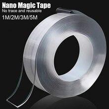 1 м/3 м/5 м Двусторонняя лента прозрачная нано волшебная Двухсторонняя