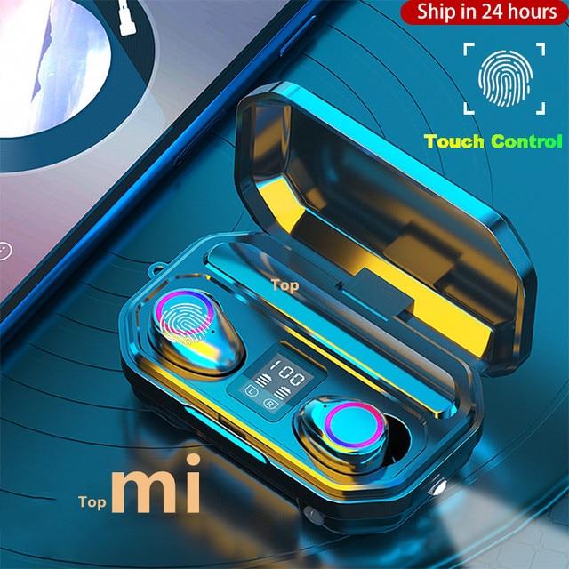 TWS Bluetooth 5.0 Earphones 3000mAh Charging Box Sports Waterproof Headphone 9D Stereo Earbuds Headsets power bank Headsets 1