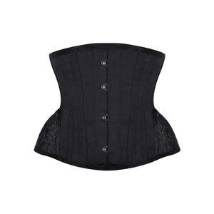 Image 1 - Espartilho burvogue, espartilho gótico, controle de cintura, steampunk, com bainha curva, bordado, treinador de cintura curta
