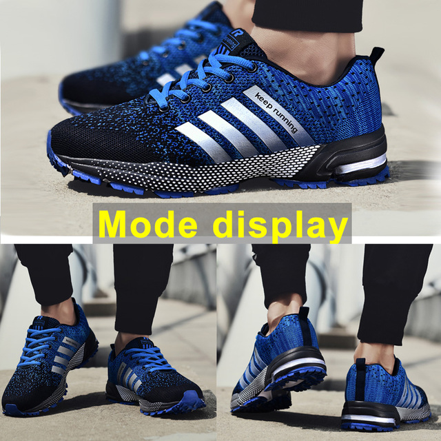 Fashion Men's Shoes Portable Breathable Running Shoes 46 Large Size Sneakers Comfortable Walking Jogging Casual Shoes 47 5
