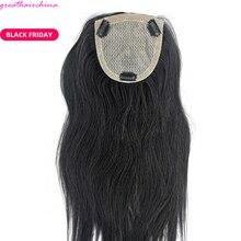 """1 шт 20 дюймов Цвет Черный ручная вязка шелковая основа Кружева Закрытие(""""* 5"""") человеческие волосы продукты прямые волосы гладкие"""