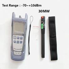 2 In1 FTTH סיב האופטי Power Meter  70 + 10dBm ו 30km 30mW תקלה חזותית Locator סיבים אופטי tester עט