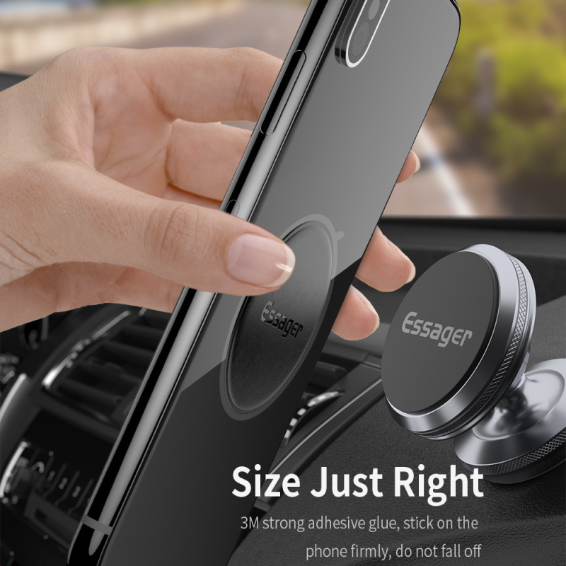 Essager Magnetic Car Phone Holder Metal Plate Magnet Mount Disk Leather Iron Sheets Mobile Phone Stand For IPhone Sheet Sticker