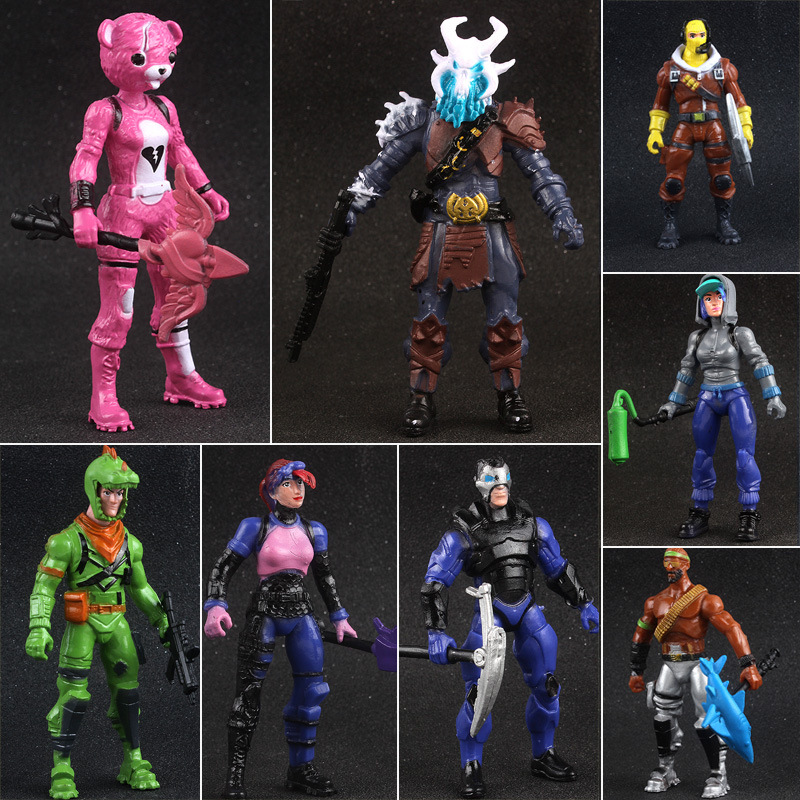 Battle Royale Action Figure PVC Model Popular Season 8 Fortresss Night Character Model Hot Shooting Game Doll Toy Birthday Gifts 1
