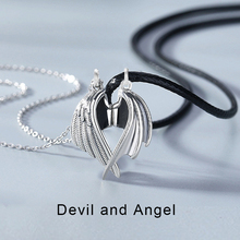 Pendant Necklace Angel Couple Demon Women Love New-Fashion for Witness And Exquisite