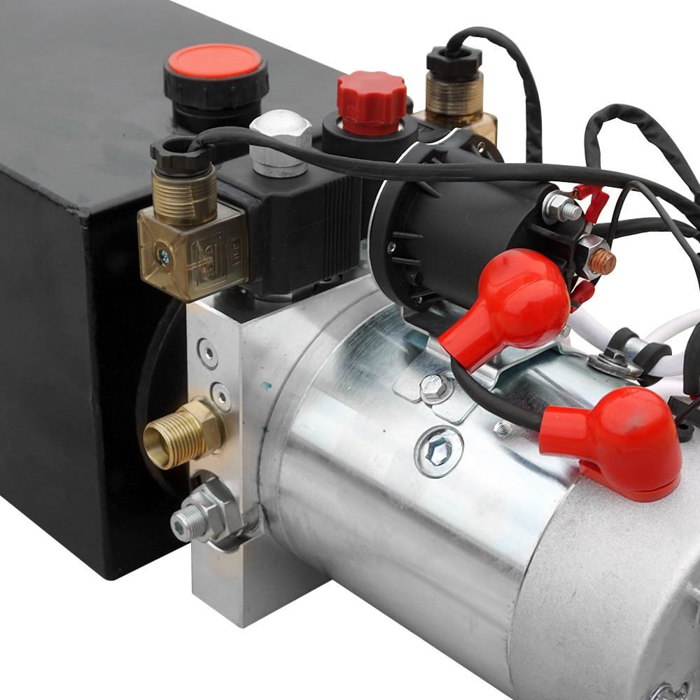 Centralina idraulica 8L Pompa a doppio effetto Potenza idraulica 12V - Utensili elettrici - Fotografia 5