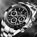 PAGANI Дизайн мужские часы хронограф Многофункциональный нержавеющая сталь бизнес военные кварцевые наручные часы Relogio Masculino VK63
