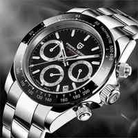 PAGANI DESIGN Männer Uhr Chronograph Multifunktionale Edelstahl Business Militär Quarz Armbanduhr Relogio Masculino VK63