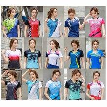 Женская теннисная рубашка, футболка для бадминтона для девочек, женские трикотажные изделия для настольного тенниса, одежда для спортзала, ...