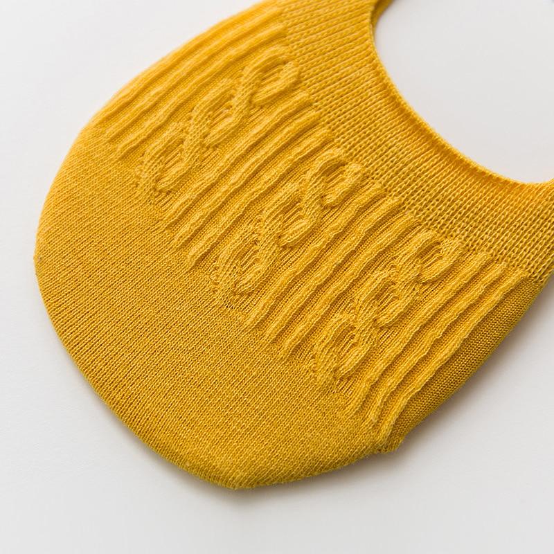 5 Pairs Cotton Women Socks Solid Snowflake Softable funny Socks Women Summer Slipper Socks Hot Sale