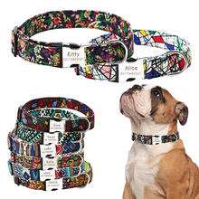 Dog Collar cat Engraved ID Tag Nameplate Reflective Boxer Dachshund Bulldog Chihuahua Pug Corgi shiba inu electric shepherd