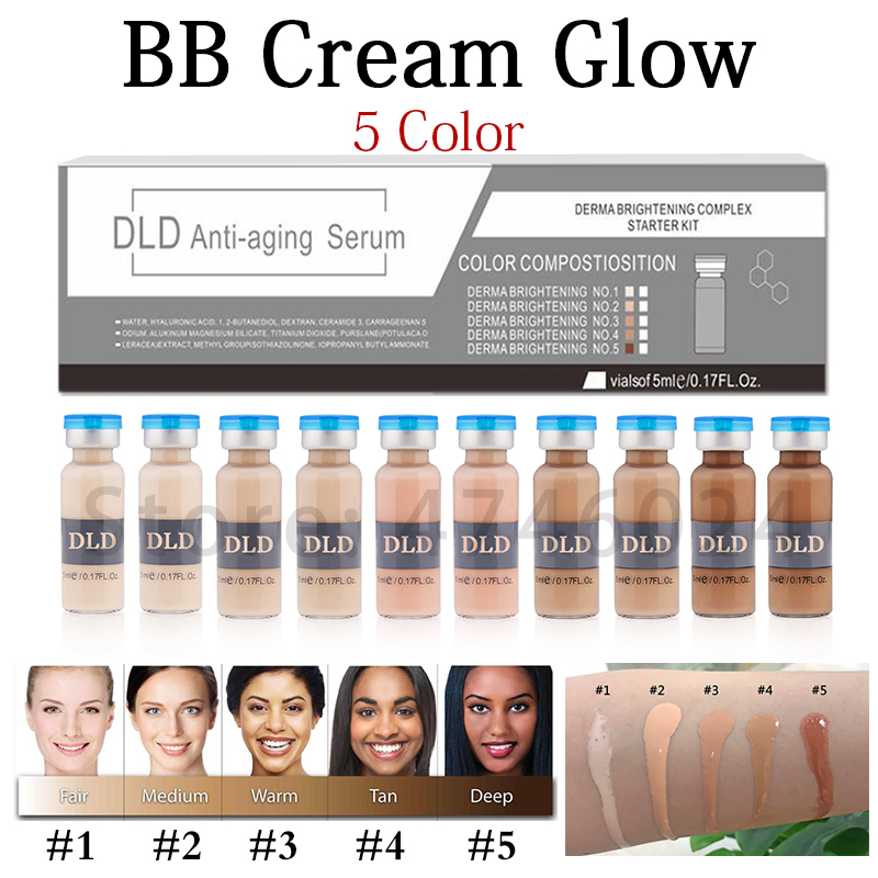 20pcs 5ml Whitening Serum BB Cream Glow Meso Brightening Serum BB Cream Foundation Beauty Salon Cosmetic Makeup Liquid Foundatio