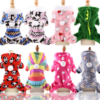 Winter Warm Dog Clothes Warm Pet Dog Jacket Coat Puppy Clothing Hoodies For Small Medium Dogs Sweater Puppy Outfit XS-XXL