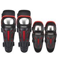 Adult Motorcycle Racing 4PCS Elbow Knee Shin Pads Protector Motorbike Racing Bike Guard Protective Gear Accessories