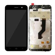 Оригинальный IPS ЖК-дисплей 5,0 дюйма для ZTE Blade A520, ЖК-дисплей, сенсорный экран, дигитайзер, переднее стекло, замена в сборе с рамкой