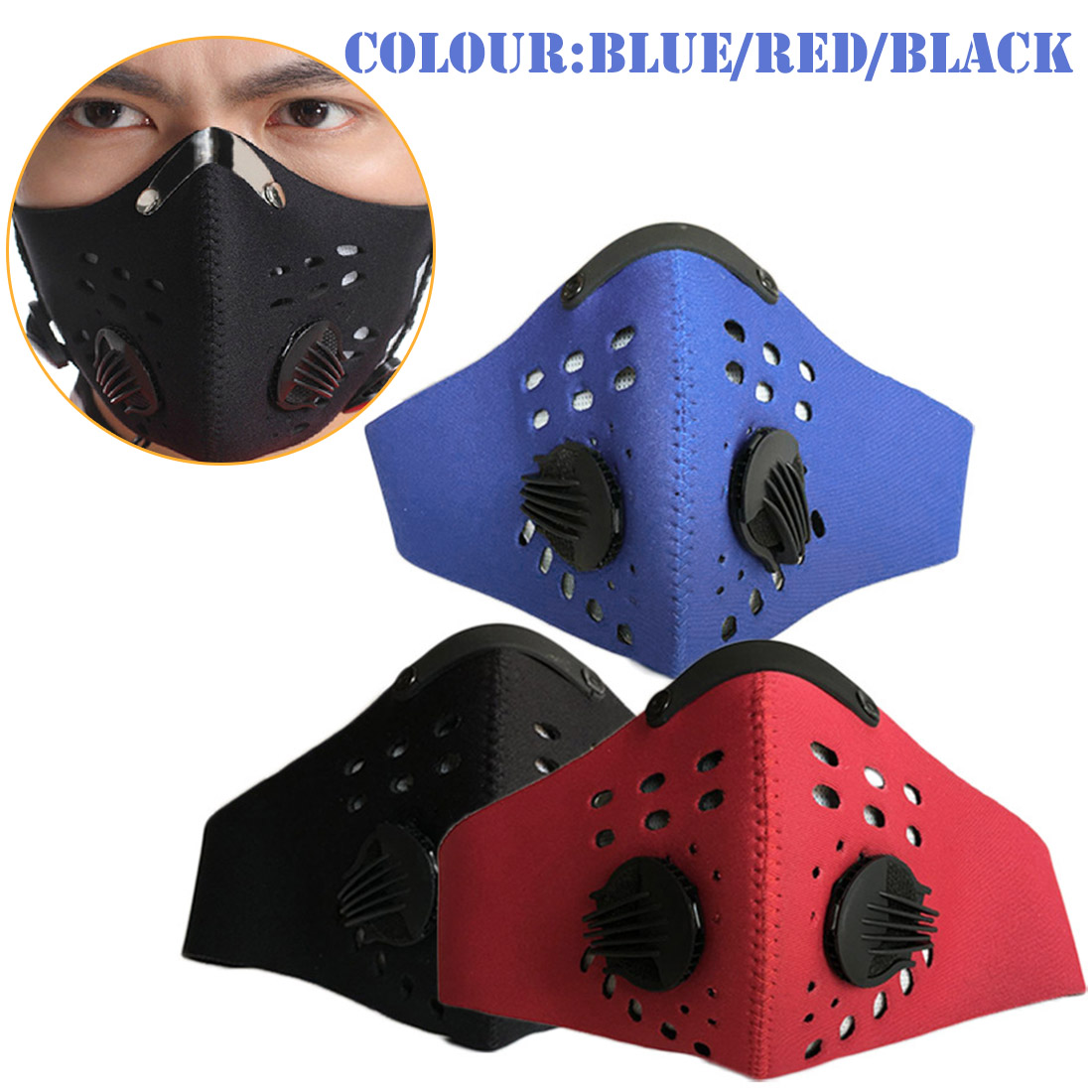 High Quality Activated Carbon Training Mask Cycling Mask Men And Women Filter Half Face Cycling Mask