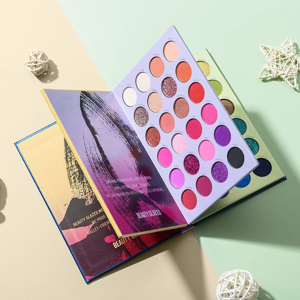 72 Color Matte Pearlescent Eye Shadow Three-layer Book Up Eyeshadow Cosmetic Palette Style Make Highlight U4P6