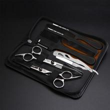 Professional Japan 440c 6 Inch Hair Scissors Set Cutting Shears Thinning Barber Scissors set Barber Hairdressing Scissors