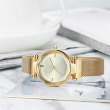 High-End New Watch Ladies Vibrating Network Red Mesh With Trend Quartz Watch Stainless Steel Wristwatch Stainless Steel watch(China)