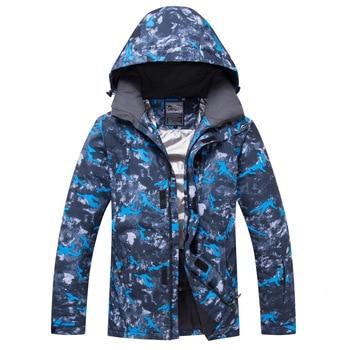 New Hot Plus Size Winter Ski Jacket Men Waterproof Windproof Snowboard Coat Snow Male Warm Outdoor Mountaining Sport Skiing Suit