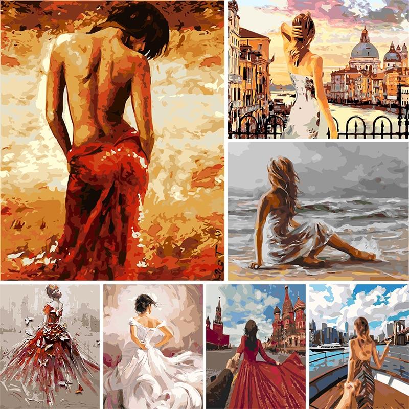 Раскраска по номерам девушка масляная раскраска портрет картины