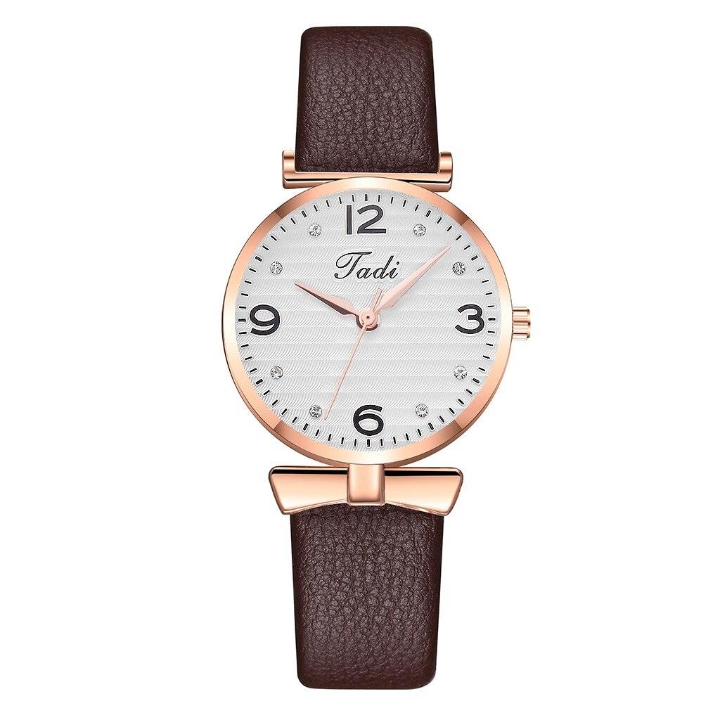 Wristwatches Women Tadi Sleek Minimalist Calendar Leather Mesh Belt Woman Quartz Watch New Wristwatches For Ladies