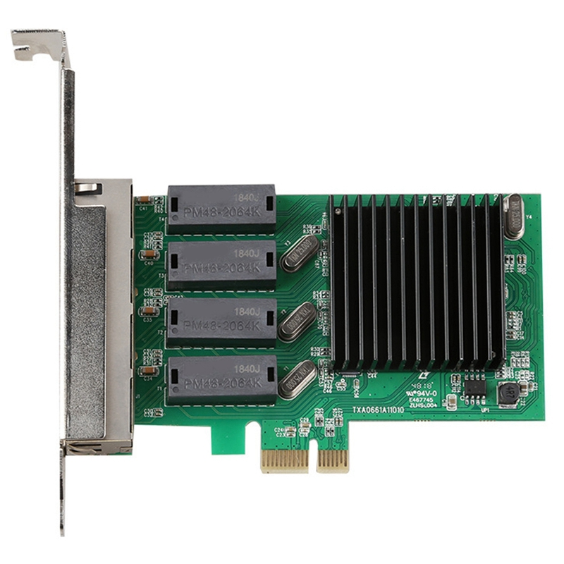4 Port Gigabit Network Card 4 RJ45 Port PCI E PCI Express Network Adapter with Realtek 8111H TXA066|Network Cards| |  -