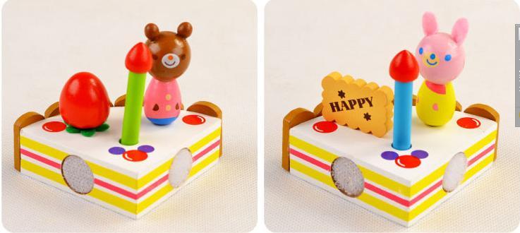 Klasične kuhinjske igrače Set modeli gradbeni kompleti Leseni okras - Igra igranja vlog - Fotografija 6