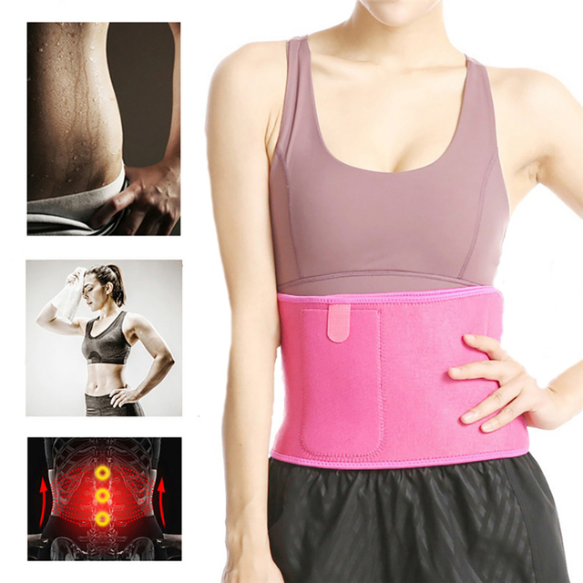 Adjustable Fitness Slimming Waist Belly Thermo Sweat Belt Body Shaper Waistband Trainer Girdle Corset Fat Burning Fitness Strap 1