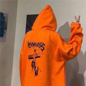 2020 sudaderas con capucha para hombre otoño Hip Hop para Hombre Sudaderas con capucha Streetwear Punk Devil con capucha para hombres otoño Suelto