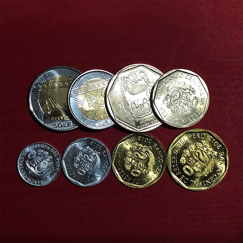 Peru 2011-2013 conjunto 8 moedas dos pces, moeda original real