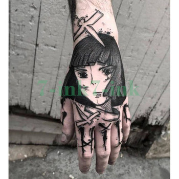 Waterproof Temporary tatoo sticker Japan cartoon gril  tatouage temporaire Water Transfer fake tatoo flash tatto for men women
