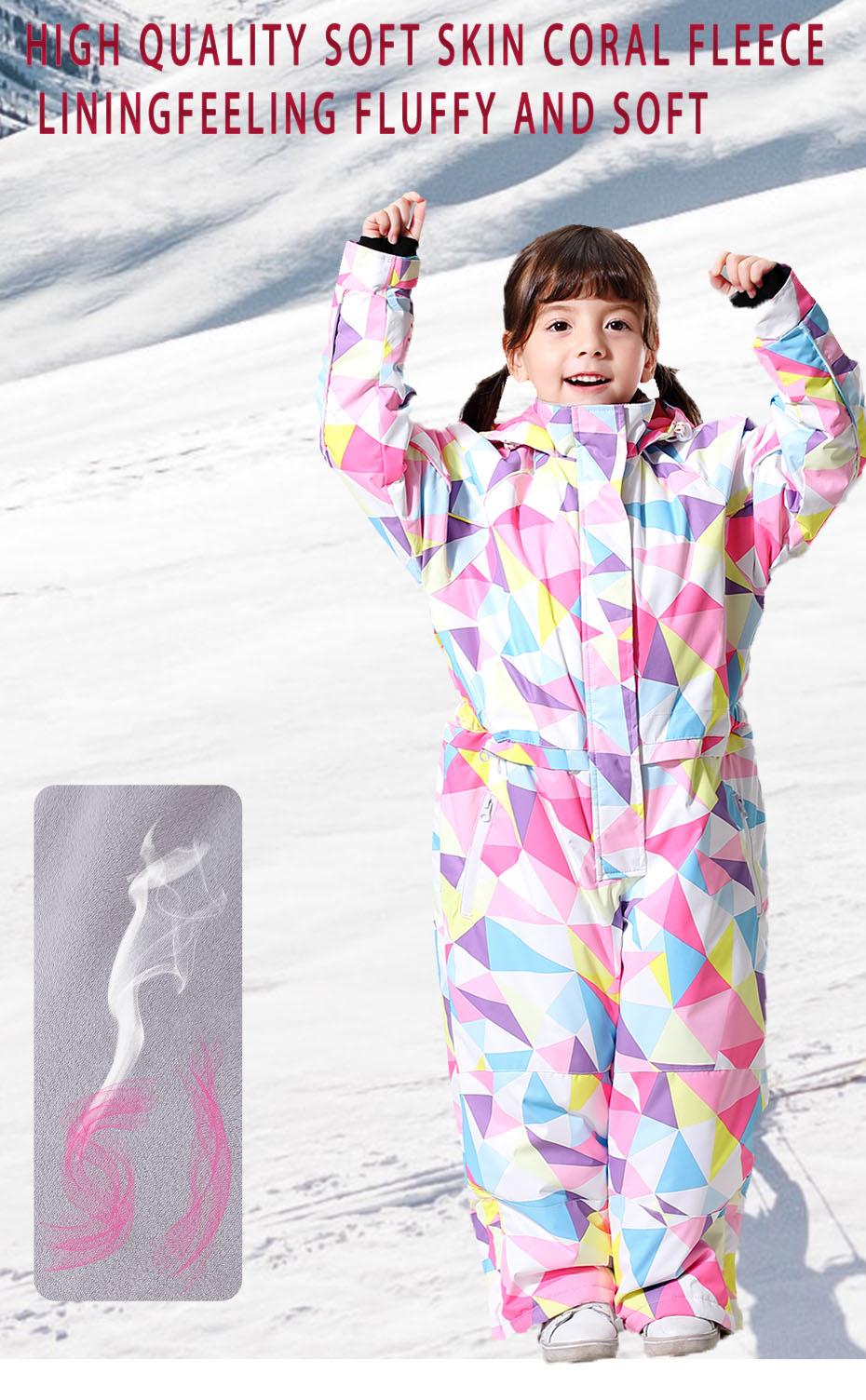 2019 novo terno de esqui para meninas