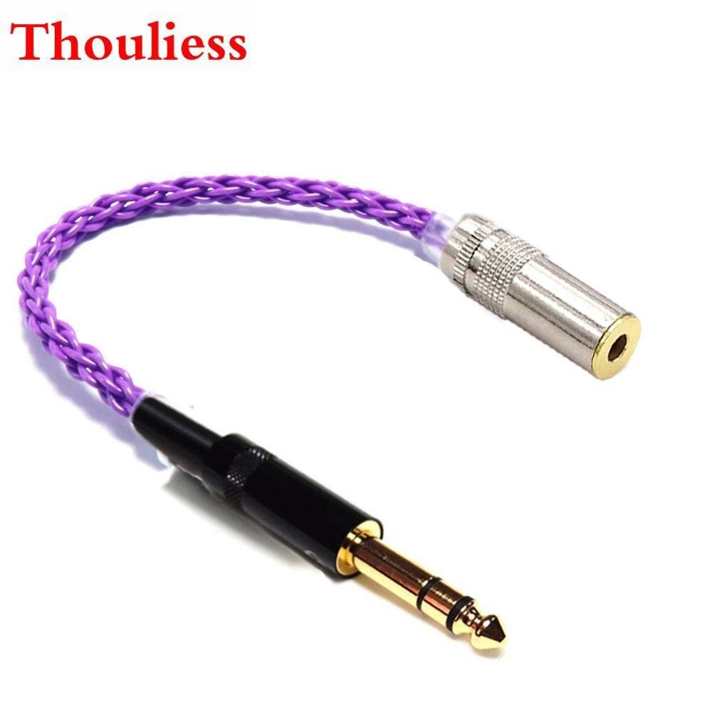 Thouliess HIFI 6,35 мм TRS штекер к 4,4 мм оправленный Женский аудио адаптер кабель с серебряным покрытием 4,4 мм до 6,35 мм адаптер соединитель