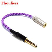 Thouliess HIFI 6.35mm TRS  Male to 4.4mm Balacned Female Audio Adapter Cable Silver plated 4.4mm to 6.35mm Adapter Connector