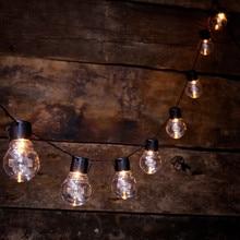 10/20 LED Solar Light String Fairy Holiday Wedding Party Decoration Transparent Bulb Light Outdoor Waterproof Solar Light String