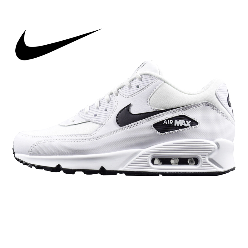 Original Authentic NIKE AIR MAX 90 ESSENTIAL Women's Running Shoes Sneakers Classic Outdoor White Comfortable 2019 New325213-131