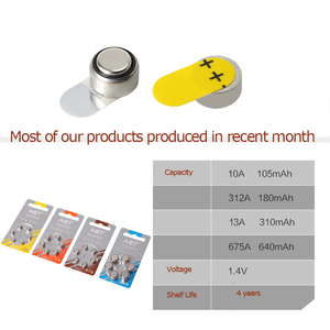 Image 4 - 60pcs AST Hearing Aid Batteries A 312 A ZA312 PR41 S312 312 Zinc Air battery for hearing aids