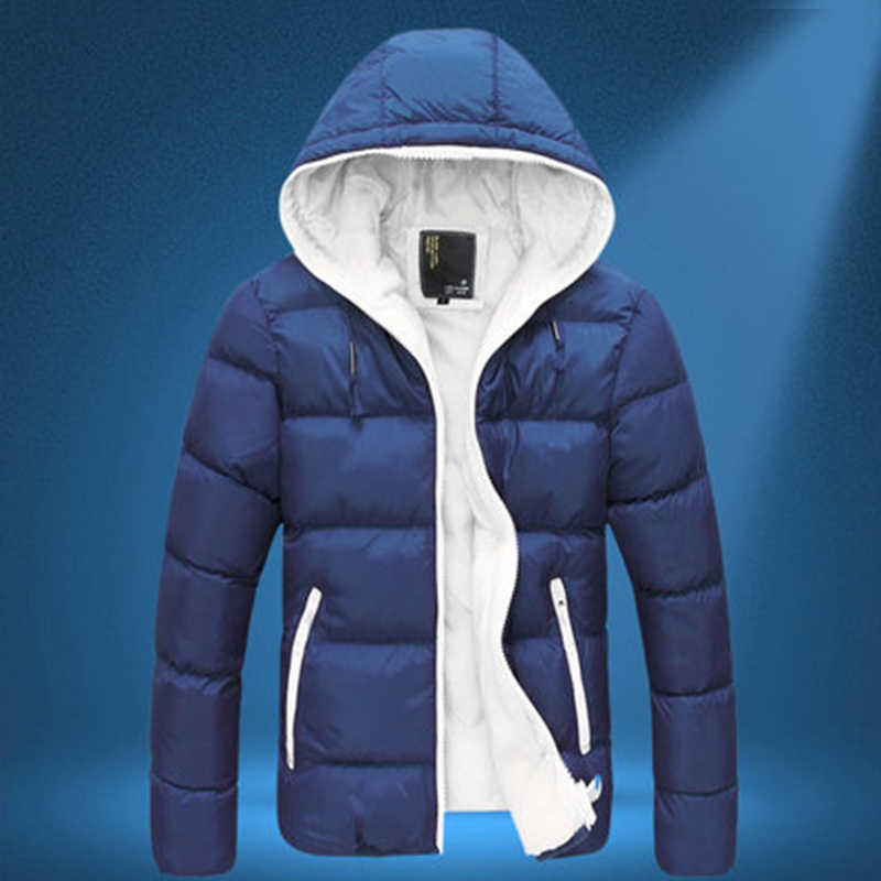 브랜드 남성 다운 재킷 캐주얼 패션 겨울 자켓 남성용 후드 윈드 브레이커 오리 코트 남성 아웃웨어 의류