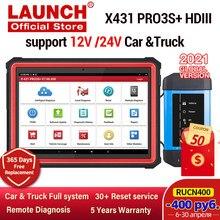 Lanzamiento de X431 PRO3S + HDIII 12V/24V coche herramienta de diagnóstico de camiones obd automático obd2 lector de código de sistema completo diagonostic escáner X431 V PRO