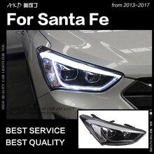 Reflektor AKD do stylizacji samochodu do reflektorów Hyundai IX45 2013-2016 nowy reflektor LED Santa Fe DRL Hid Bi Xenon akcesoria samochodowe