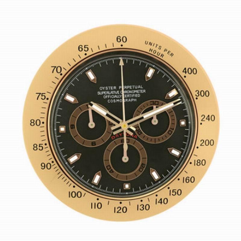 Horloge de montre d'art en métal doré montre lumineuse de qualité supérieure horloges murales de décoration intérieure avec Logos correspondants série Cosmograph