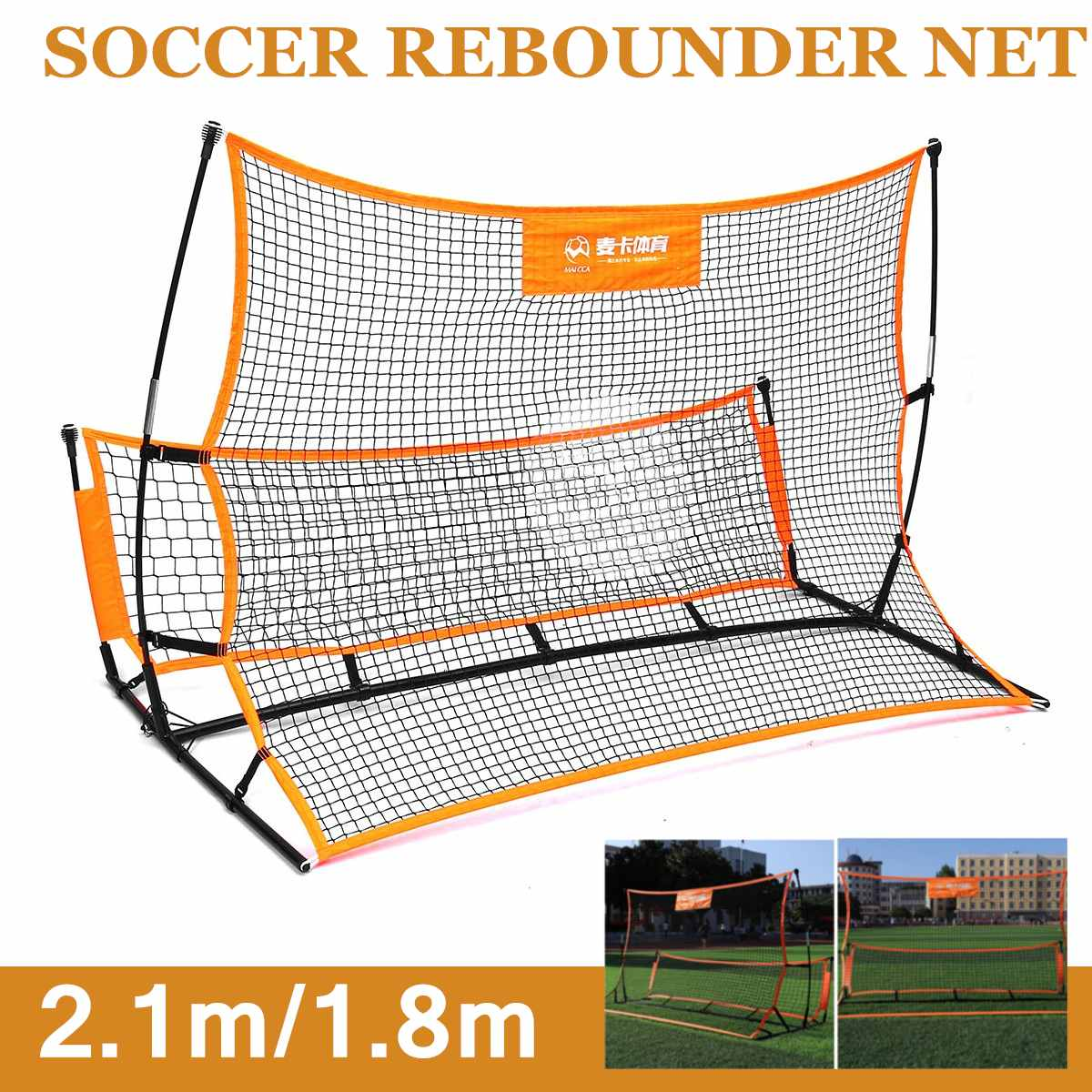 Portable Soccer-Ball Target Rebound Foot Aid-Tool Target Soccer Football Rebounder Net Volley Training