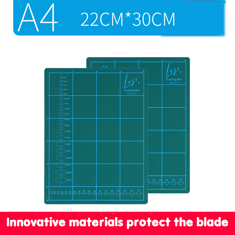 Cutting Pad Thickened A4 Grid Plate Pvc Self-healing Double-sided Green Cutting Pad / Cutting Plate / Pad Plate/engraving Plate